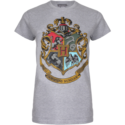Harry Potter Women's Hogwarts Crest T-Shirt - Sport Grey