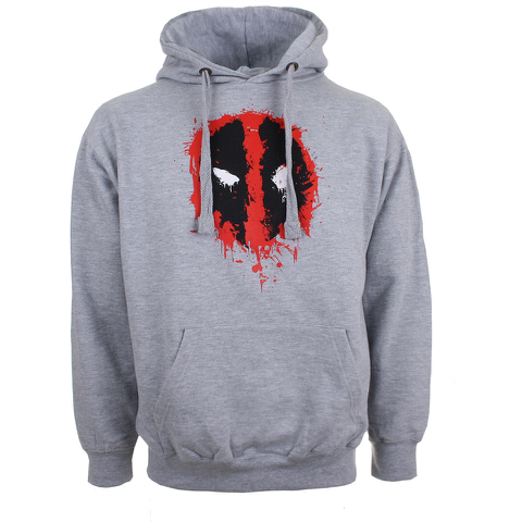 Marvel Deadpool Men's Paint Logo Hoody - Grey