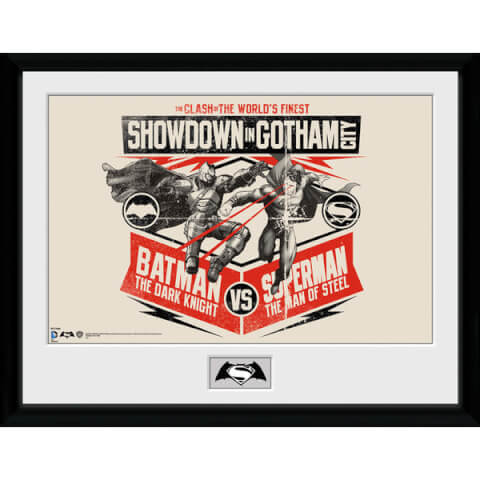 DC Comics Batman v Superman Dawn of Justice - 16 x 12 Inches Framed Photographic
