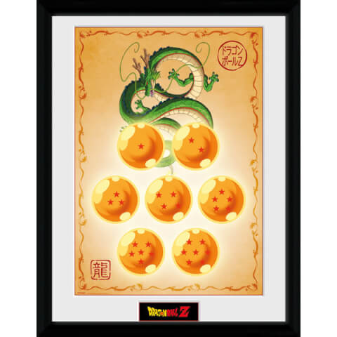 Dragonball Z Dragon Balls - 16 x 12 Inches Framed Photographic