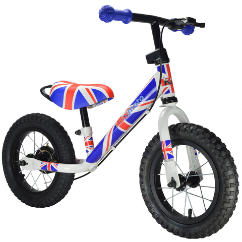 Kiddimoto Super Junior Max Decal Bike - Union Jack