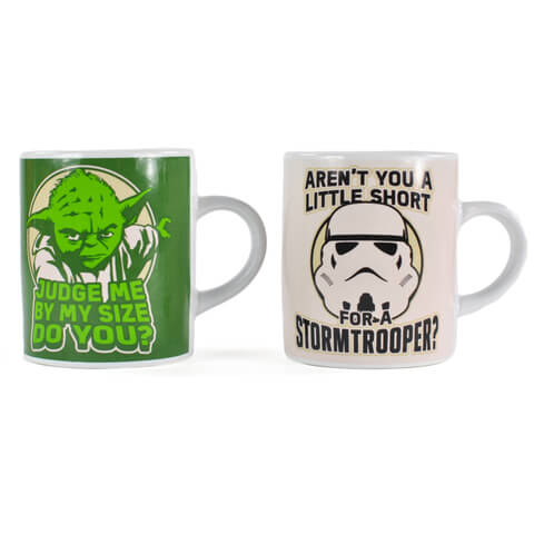 Mini Tasses Star Wars Maitre Yoda et Stormtrooper