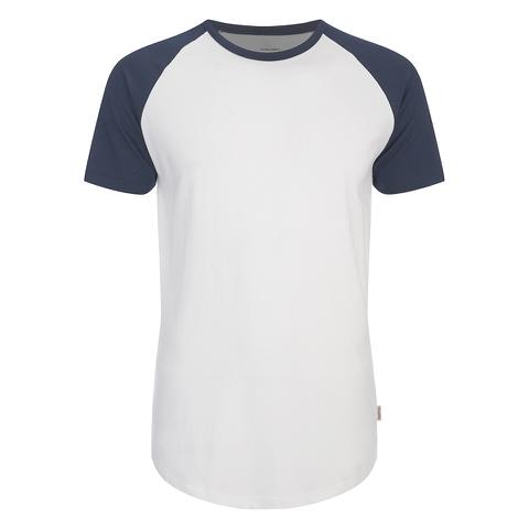 Jack & Jones Men's Originals Stan Raglan Sleeve T-Shirt - Navy/White