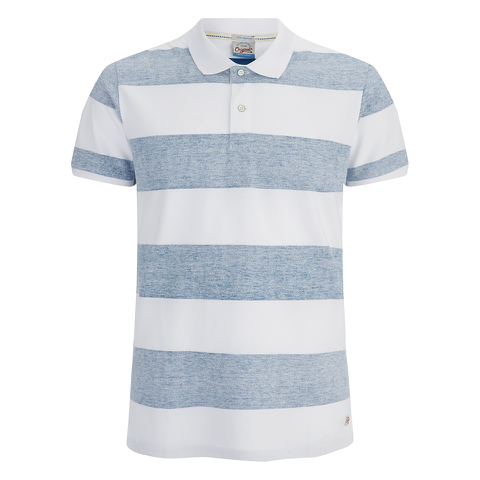Jack & Jones Men's Originals Micks Polo Shirt - Mykonos Blue/White
