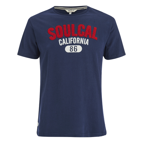Soul Cal Men's Logo T-Shirt - Navy