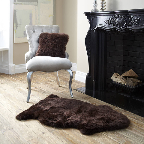 Tapis en peau de mouton Royal Dream - Marron