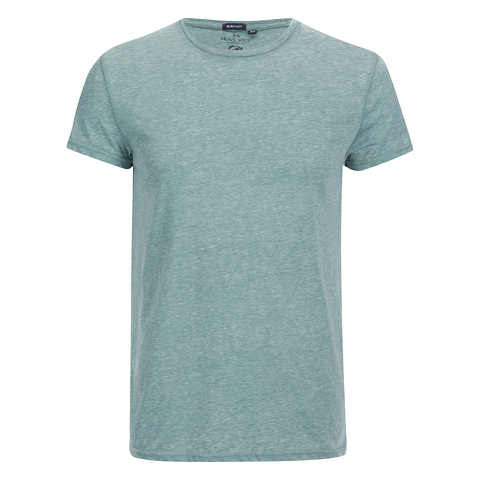 Brave Soul Men's Gonzalo Burnout T-Shirt - Sea Green