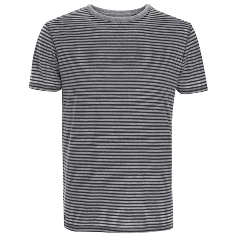 Threadbare Men's Helsinki Burnout Stripe T-Shirt - Grey