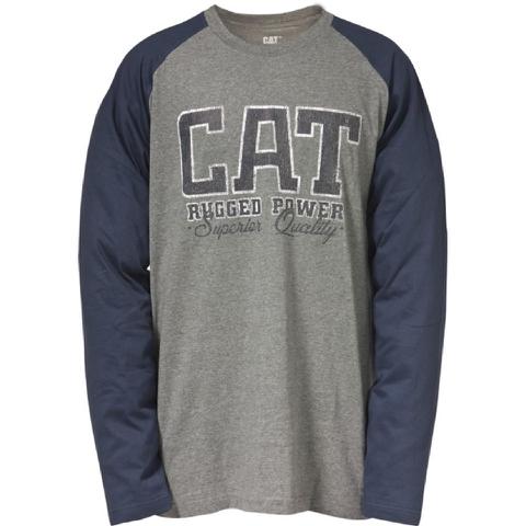 Caterpillar Men's Rugged Baseball T-Shirt - Grey