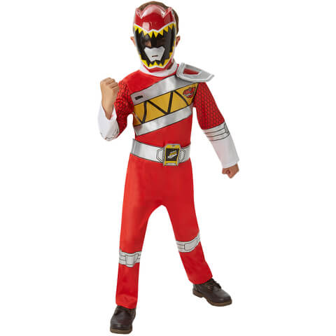 Power Rangers Boys' Dino Charge Red Ranger Fancy Dress