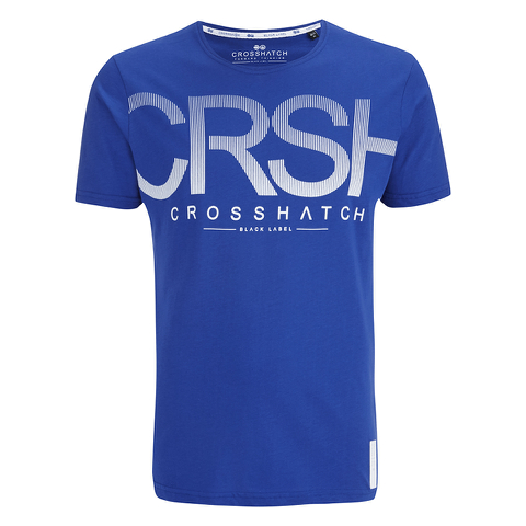 Crosshatch Men's Crusher Graphic T-Shirt - Mazarine Blue