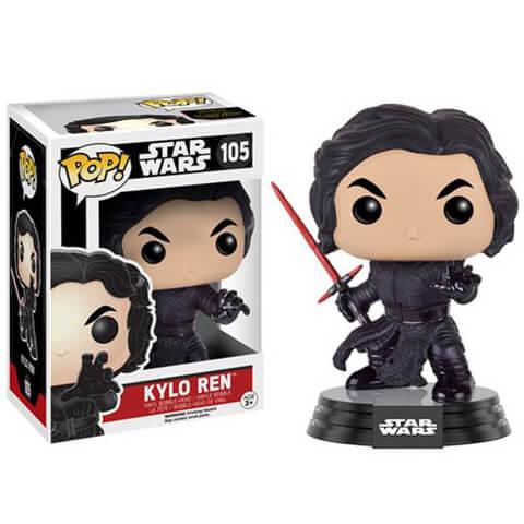 Figurine Pop! Star Wars: Le Réveil de la Force Kylo Ren Démasqué