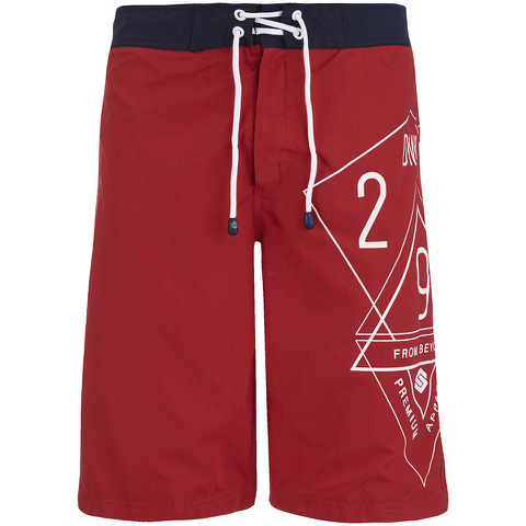 Smith & Jones Men's Amplitude Swim Shorts & Flip Flops - Rift Red