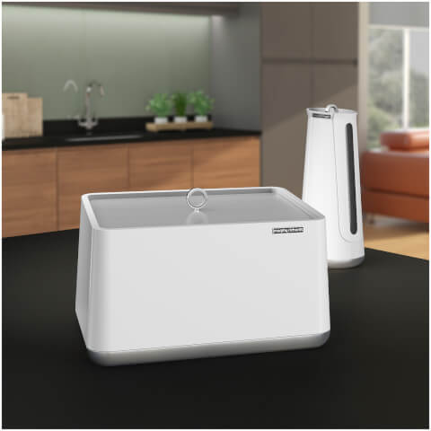 morphy richards 972001 aspect bread bin white iwoot. Black Bedroom Furniture Sets. Home Design Ideas