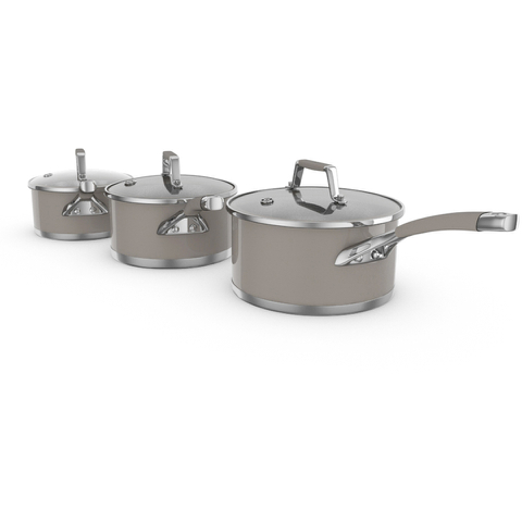 Morphy Richards 978011 3 Piece Pan Set 16/18/20cm Barley