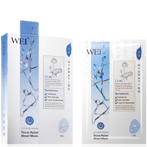 WEI Lotus Blossom Thirst Relief Sheet Mask