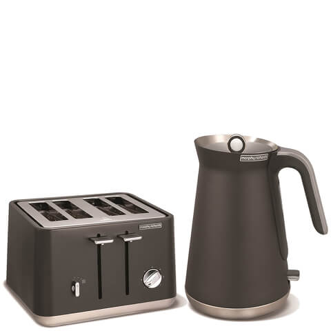Morphy Richards Aspect Steel 4 Slice Toaster and Kettle Bundle - Titanium
