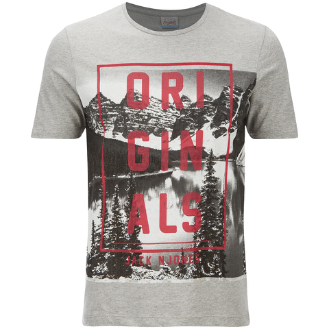 Jack & Jones Men's Originals Coffer T-Shirt - Light Grey Marl