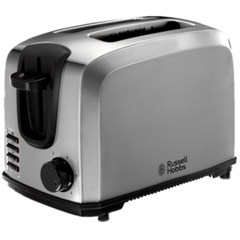 Russell Hobbs 20880 Polished/Brushed Compact Toaster - Stainless Steel