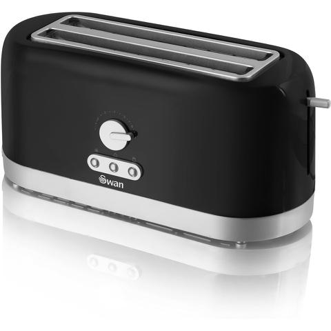 Swan ST10090BLKN 4 Slice Longslot Toaster - Black