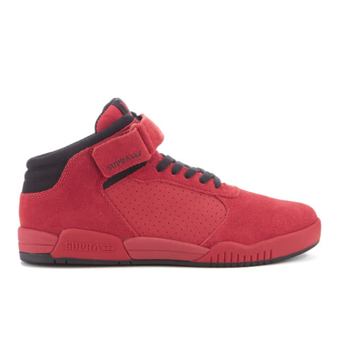 Supra Men's Ellington Strap Suede Mid Top Trainers - Red