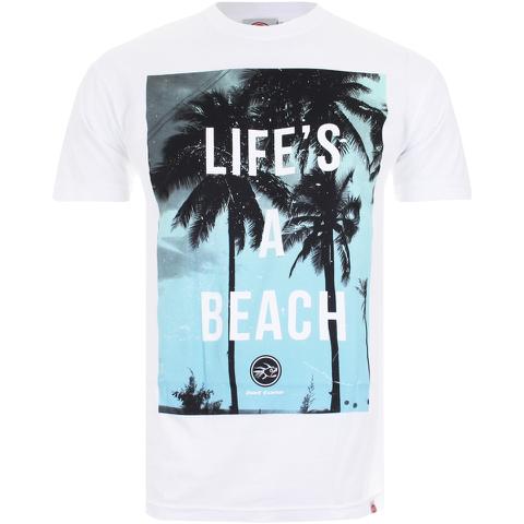 T-Shirt Homme Hot Tuna Life's A Beach - Blanc