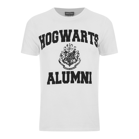 harry potter men s hogwarts alumni t shirt white my box
