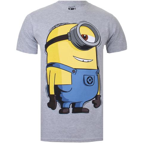 Minions Large Stuart Heren T-Shirt - Grey Marl
