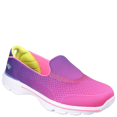 Skechers Kids' Go Walk 3 Shoes - Purple/Pink