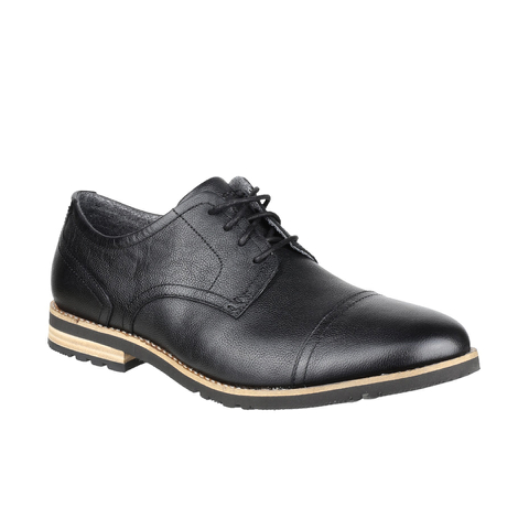 Rockport Men's Ledge Hill 2 Toe Cap Oxford Shoes - Black