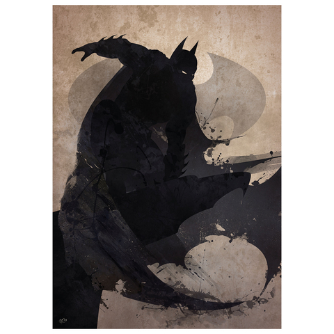 Batman Inspired Art Print - 16.5 x 11.7