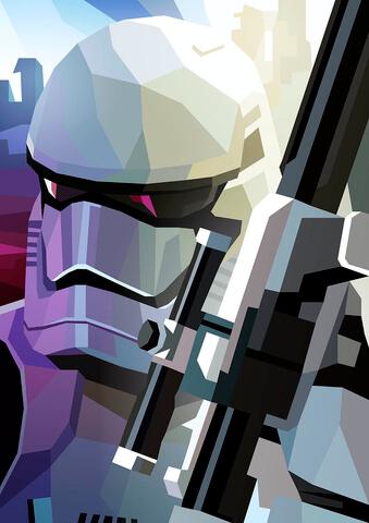 Affiche inspiration Star Wars Stormtrooper 42cm x 30cm