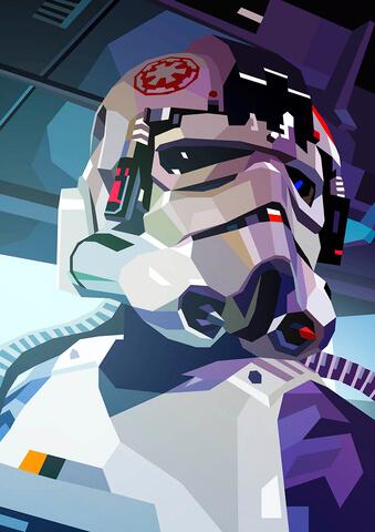 Star Wars AT-AT Driver Inspired Illustrative Fine Art Print - 16.5 x 11.7