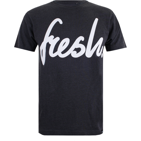 Cotton Soul Men's Fresh Mono T-Shirt - Charcoal