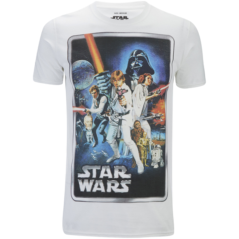 Star Wars New Hope Poster Heren T-Shirt - Wit