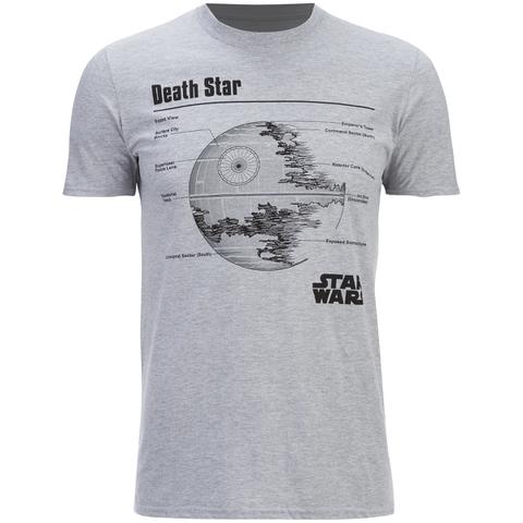Star Wars Men's Death Star T-Shirt - Heather Grey
