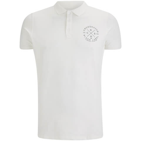 Crosshatch Herren Cultize Stamp Polo Shirt - Off White