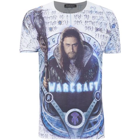 T-Shirt Homme Warcraft Etuin Lothar - Blanc