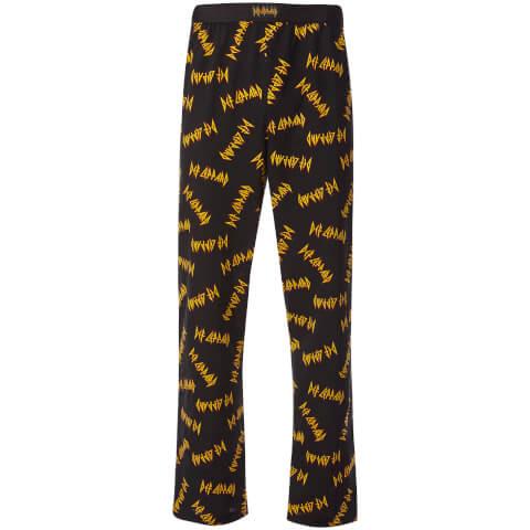 Pantalon Homme de Pyjama -Def Leppard- Noir