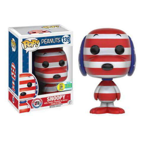 Peanuts Patriotic Snoopy Pop! Vinyl Figure SDCC 2016 Exclusive