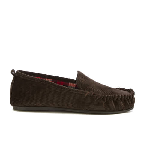 Dunlop Men's Adrien Moccasin Slippers - Brown