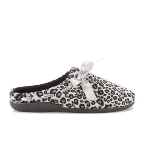 Dunlop Women's Belle Leopard Print Slippers - Snow Leopard