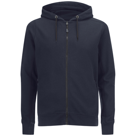 Dissident Men's Cobden Pique Zip Through Hoody - True Navy