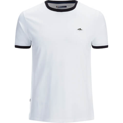 Le Shark Men's Davenant Ringer Crew Neck T-Shirt - White