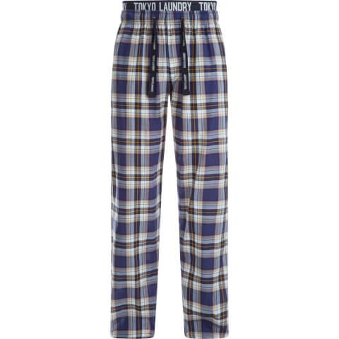 Tokyo Laundry Men's Clissold Poplin Check Lounge Pants - Blue