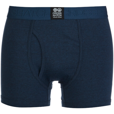 Crosshatch Men's 3 Pack Triplet Boxers - Insignia Blue
