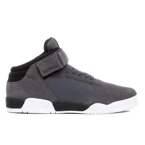 Supra Men's Ellington Strap Suede Trainers - Dark Grey