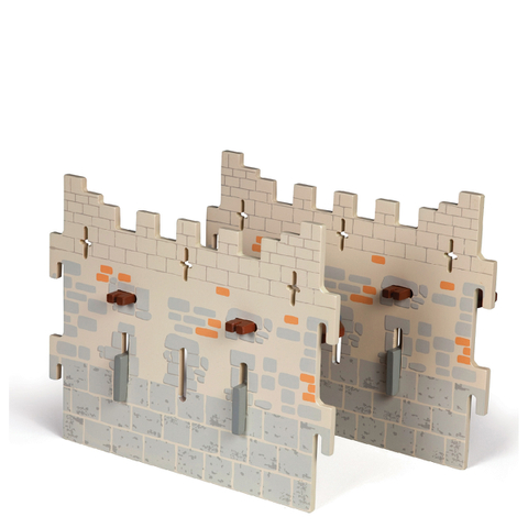 Papo Medieval Era: Weapon Master Castle - 2 Large Walls (Set 4)