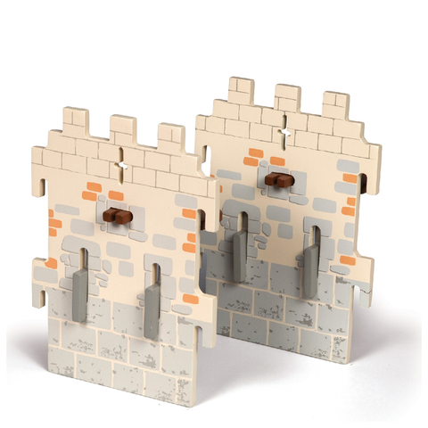 Papo Medieval Era: Weapon Master Castle - 2 Small Walls (Set 6)