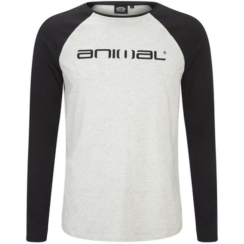 Animal Men's Action Raglan Long Sleeve Top - Light Grey Marl
